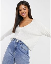 Abercrombie & Fitch V Neck Light Weight Knit Jumper - Multicolour