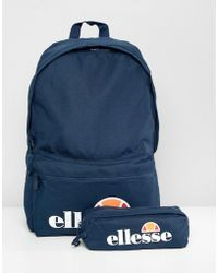 Ellesse - Rolby Backpack With Pencil Case In Navy - Lyst