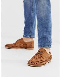 Office Плетеные Светло-коричневые Кожаные Туфли На Шнуровке Lambeth-светло-коричневый