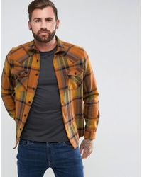 ASOS - Design Overshirt With Wool Mix And Western Styling - Lyst