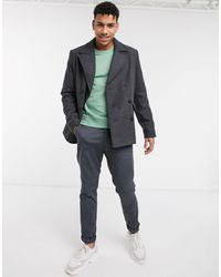 ASOS Wool Mix Peacoat - Grey
