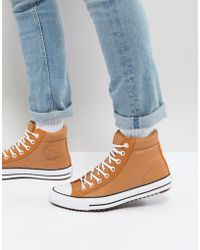 Converse - Chuck Taylor All Star Street Sneaker Boots In Tan 157494c237 - Lyst