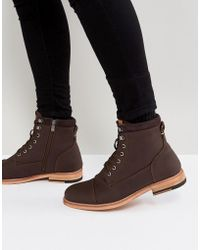 Call It Spring - Rosciolo Lace Up Boots In Brown - Lyst