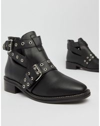42c04d34717 Flat Ankle Boots - Black