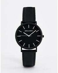 ASOS Leren Horloge - Zwart