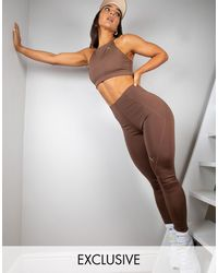PUMA Training x Stef Fit - Exclusivité ASOS - Legging sculpté taille haute - chocolat - Marron