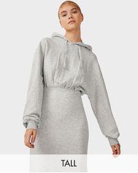 TOPSHOP - Vestito grigio - Lyst