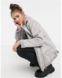 ONLY Куртка Авиатор Серого Цвета -серый
