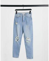 In The Style X Jac Jossa Distressed Crop Denim Jean - Blue