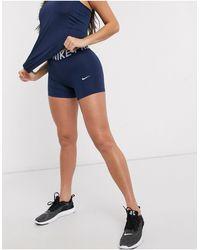 Nike Nike - Pro Training - Short Van 5 Inch - Blauw