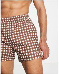 Collusion Swim Shorts - Brown