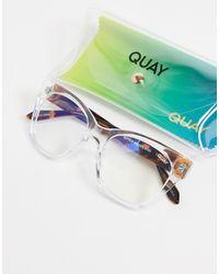 Quay - Женские Прозрачные Солнцезащитные Очки Мини С Защитой От Синего Излучения Quay After Hours-прозрачный - Lyst