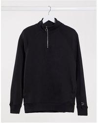 River Island Prolific Half Zip Sweatshirt - Black