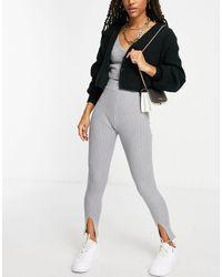 Missguided Split Front legging - Grey