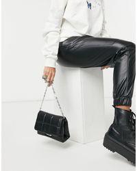Pull&Bear Padded Shoulder Bag - Black