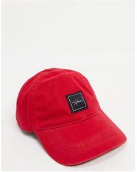 Hollister Cappellino con logo stampato a contrasto, colore rosso