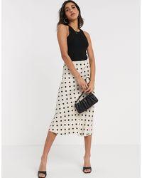 B.Young Polka Dot Bias Cut Skirt - Black