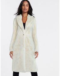 Vila Faux Fur Coat - White