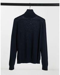 Celio* Roll Neck Knit Jumper - Blue