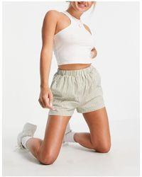 Daisy Street Shorts - Green