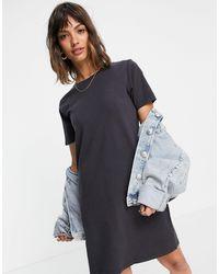 Levi's Черное Платье-футболка -черный Цвет
