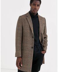 Ted Baker Italian Wool Overcoat - Brown