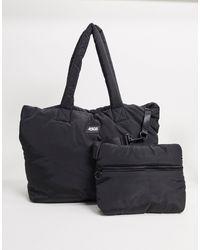 ASOS 4505 Bolso totel acolchado con bolsillo interior - Negro