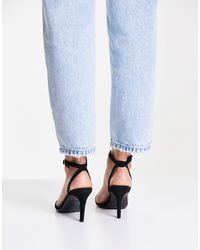 New Look Suedette Strappy Stiletto - Black