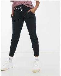 DKNY - Joggers con fondo elasticizzato neri - Lyst