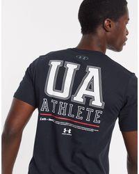 Under Armour T-shirt nera con logo sul petto - Nero
