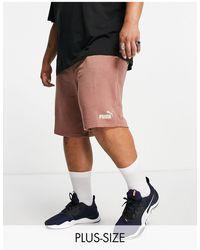PUMA Plus - essentials - pantaloncini - Marrone