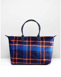 Mi-Pac - Weekender Bag In Picnic Check - Navy/orange - Lyst