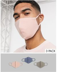 ASOS Confezione da 3 mascherine - Multicolore