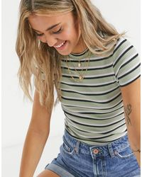 Monki Magdalena Organic Cotton Stripe T-shirt - Multicolor