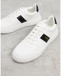 TOPMAN Chunky Trainers With Stripe Detail - White
