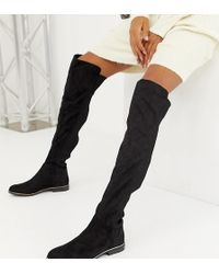 Bershka - Ribbed Over The Knee Boot - Lyst