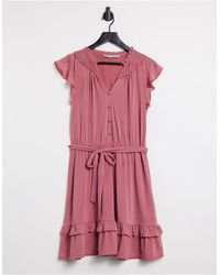 Oasis Chiffon Skater Dress - Pink