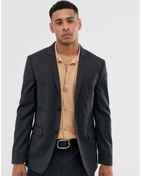 Calvin Klein Черный Фактурный Пиджак