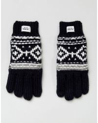 Esprit - Fairisle Knitted Gloves - Lyst