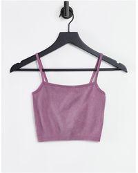 Pull&Bear Co-ord Ribbed Yoga Cami Top - Pink