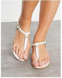 Accessorize T Bar Sandal - White