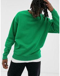 ASOS Oversized Sweatshirt In Green