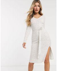 Abercrombie & Fitch Vestido midi - Blanco