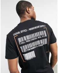 Only & Sons T-shirt With Barcode Back Print - Black