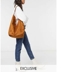 Glamorous Exclusive Slouchy Tote Bag - Brown