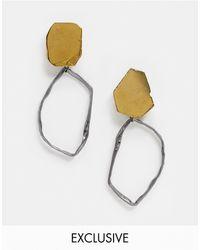 South Beach Эксклюзивные Серьги С Фигурными Подвесками-кольцами -серебряный - Многоцветный