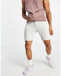 Jack & Jones Intelligence - Short à 5 poches - cassé - Blanc