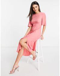 Warehouse Angel Sleeve Dress - Pink