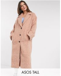 ASOS - Розовое Oversized-пальто - Lyst