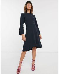 Closet Платье С Запахом И Длинными Рукавами Closet-темно-синий